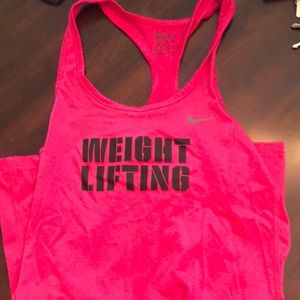 Nike dry fit weightlifting tank